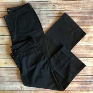 2 Pair Eddie Bauer Black Shorts Capris 14 PLUS Lot